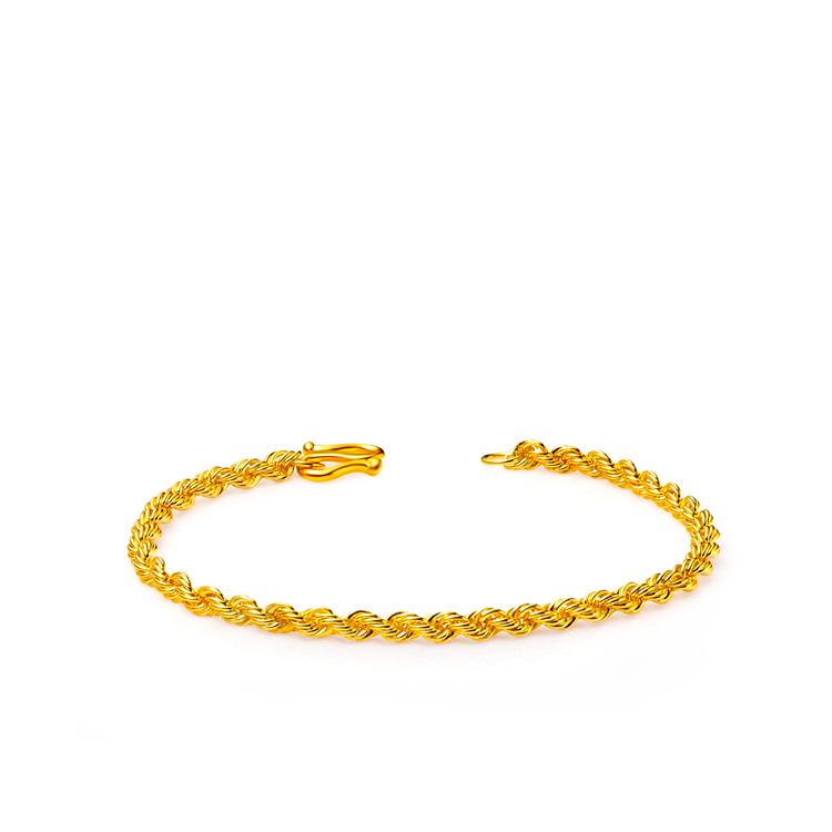 charming-gold精巧编织黄金千足金手链