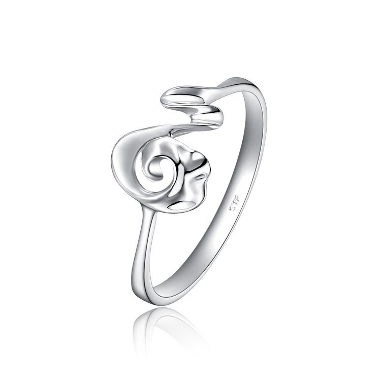 时尚逗号Pt950铂金戒指