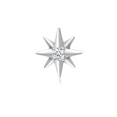 【电商专款】周大 八芒星Pt950镶钻石耳饰耳线(单只)