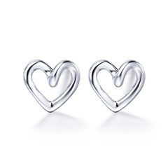心形银925耳环