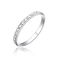 秀气典雅雕花银925戒指