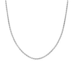 圆片连缀银925项链