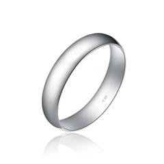 周大福简约大方银925戒指