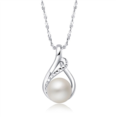 时尚大气银925珍珠吊坠