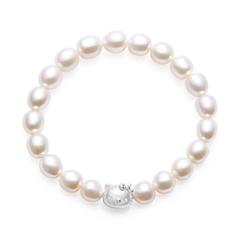 周大福HELLO KITTY系列凯蒂猫银925珍珠手链