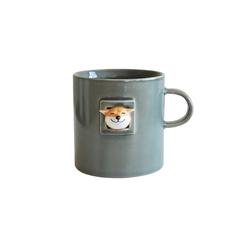 三浅陶社 x K11创意可爱日式咖啡杯豆太郎(灰釉)马克杯
