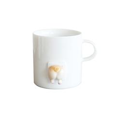 三浅陶社 x K11创意可爱日式咖啡杯(跟屁基)马克杯