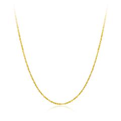 周大福水波扭纹黄色18K金项链