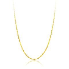 时尚水波纹黄色18K金项链