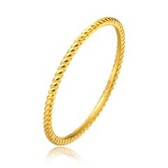 女神系列简约螺旋黄色18K金戒指