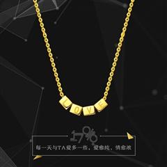 周大福17916系列精致黄色22K金项链