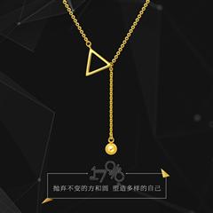 17916系列精致黄色22K金项链