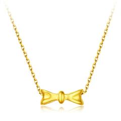 周大福 17916系列 可爱蝴蝶结22K金项链
