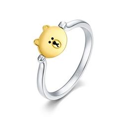 周大福 LINE FRIENDS系列 可爱布朗熊18K金戒指
