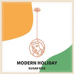 周大福 摩登假日系列 Sugar Kiss 风华绝代18K金耳钉(单只)