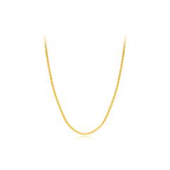 周大福V字形链节黄色18K金项链(公益)