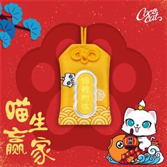 周大福 CoCo Cat系列 锦鲤附体御守足金金币金章