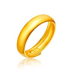 【儿童】周大福光身足金黄金戒指