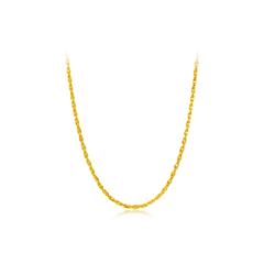 经典光身黄金足金项链