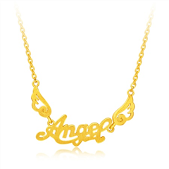 周大福Angel天使之翼足金黃金項鏈