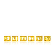 六字真言六件套装黄金千足金吊坠转运珠
