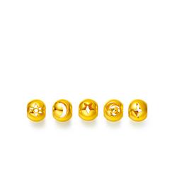 日月星云电五件套装光身黄金足金转运珠