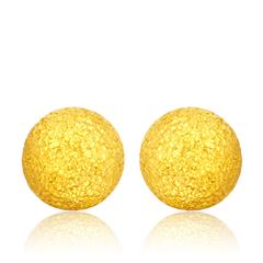 闪砂黄金足金耳饰
