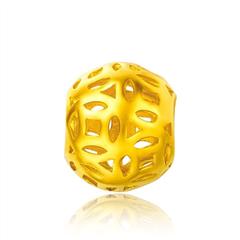 光身金珠镂空黄金足金吊坠