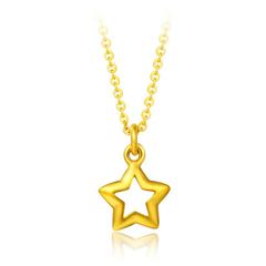 星星足金黄金项链