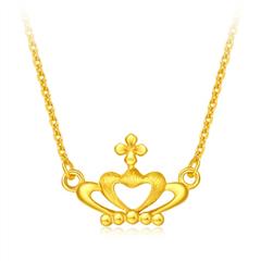 婚嫁皇冠典雅黄金足金项链