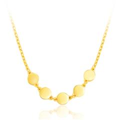 周大福ing 系列时尚圆形 圆满足金黄金项链