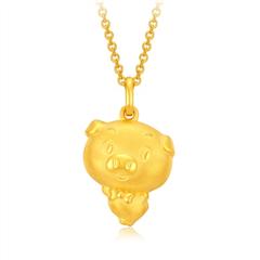 【预售】周大福 猪年生肖 足金黄金吊坠(将于4月30日前发货)
