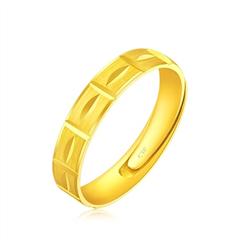 【七夕礼物】周大福简约时尚足金黄金戒指