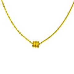 周大福 几何圆形黄金足金项链一件(另有升级版EOF90)