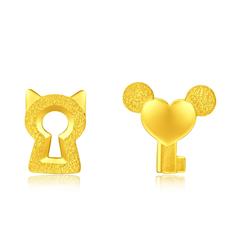 周大福 貓鼠鑰匙租金黃金耳釘
