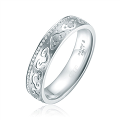 【联系客服订购】故宫系列事事如意PT950铂金镶钻石戒指