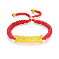周大福JEWELRIA 故宮百寶閣系列 吉祥如意足金黃金手鏈