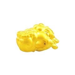 周大福 招财貔貅 足金黄金转运珠吊坠