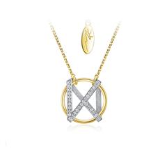 CHOW TAI FOOK × WANGKAI 王凯定制款 爱之星辰 18k金钻石项链