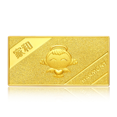 周大福福星宝宝家和足金黄金投资金条