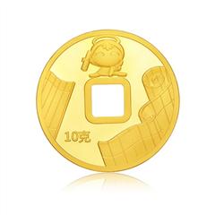 周大福福星宝宝智慧足金投资黄金金章金币