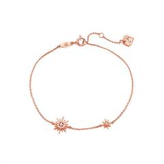 周大福MONOLOGUE独白 LIGHTBOOM系列 18K玫瑰金色钻时尚手链