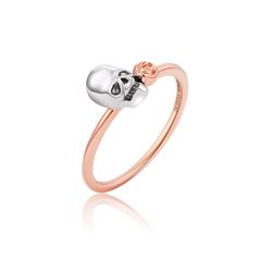 【刻字】周大福MONOLOGUE独白 MIX系列 骷髅18K金镶钻石戒指