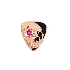 周大福MONOLOGUE独白 主角系列 骷髅之眼银镶托帕石迷你拨片手镯