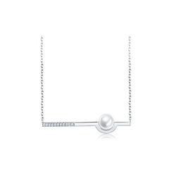 周大福MONOLOGUE独白 珍珠银项链