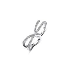周大福MONOLOGUE独白 主角系列 双环个性时尚925银托帕石戒指