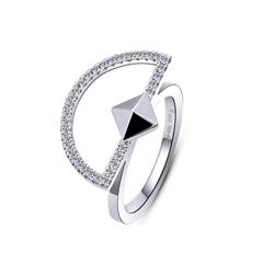 周大福MONOLOGUE独白 主角系列 几何图形银托帕石戒指