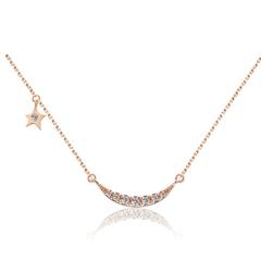 周大福MONOLOGUE独白 MIX系列 祈愿星9K金钻石项链