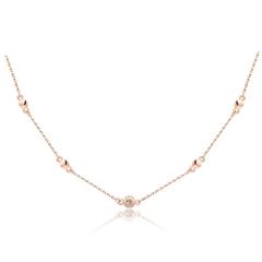 周大福MONOLOGUE独白 MIX系列 小巧9K金彩金钻石项链