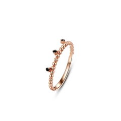 周大福MONOLOGUE独白 MIX系列 9K金黑钻石戒指